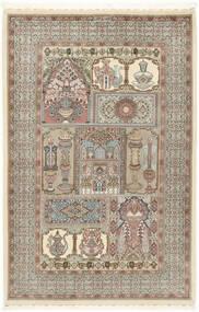 Ilam Sherkat Farsh Mătase Covor 148X223 Orientale Lucrat Manual Gri Deschis/Bej (Lână/Mătase, Persia/Iran)