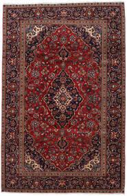 Kashan Covor 193X298 Orientale Lucrat Manual Roșu-Închis (Lână, Persia/Iran)