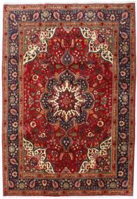 Tabriz Covor 201X291 Orientale Lucrat Manual Roșu-Închis/Maro Închis (Lână, Persia/Iran)