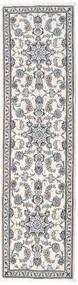 Nain Covor 79X298 Orientale Lucrat Manual Gri Închis/Bej-Crem/Gri Deschis (Lână, Persia/Iran)