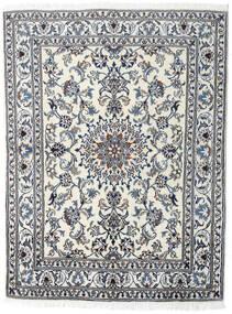 Nain Covor 145X191 Orientale Lucrat Manual Gri Deschis/Gri Închis (Lână, Persia/Iran)