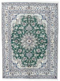 Nain Covor 145X198 Orientale Lucrat Manual Gri Deschis/Albastru (Lână, Persia/Iran)