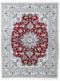 Nain Covor 147X193 Orientale Lucrat Manual Bej-Crem/Gri Deschis/Bej (Lână, Persia/Iran)