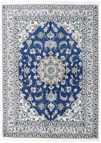 Nain Covor 150X200 Orientale Lucrat Manual Albastru Închis/Albastru Deschis (Lână, Persia/Iran)