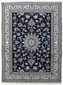 Nain Covor 147X198 Orientale Lucrat Manual Gri Deschis/Negru/Gri Închis (Lână, Persia/Iran)
