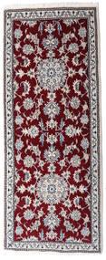 Nain Covor 80X200 Orientale Lucrat Manual Roșu-Închis/Bej-Crem (Lână, Persia/Iran)