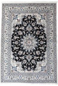 Nain Covor 147X210 Orientale Lucrat Manual Gri Deschis/Gri Închis (Lână, Persia/Iran)