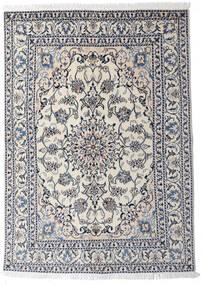 Nain Covor 145X204 Orientale Lucrat Manual Gri Deschis/Gri Închis (Lână, Persia/Iran)