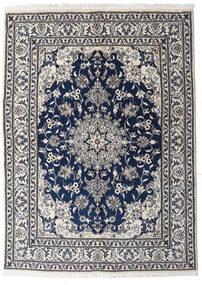 Nain Covor 147X201 Orientale Lucrat Manual Gri Deschis/Gri Închis (Lână, Persia/Iran)