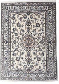 Nain Covor 147X206 Orientale Lucrat Manual Gri Deschis/Gri Închis (Lână, Persia/Iran)