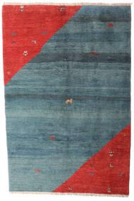 Gabbeh Rustic Covor 203X305 Modern Lucrat Manual Albastru/Ruginiu (Lână, Persia/Iran)