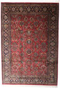 Kashan Indo Covor 196X285 Orientale Lucrat Manual Roșu-Închis/Gri Închis (Lână, India)