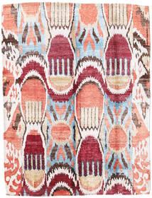 Sari Pură Mătase Covor 154X204 Modern Lucrat Manual Bej/Bej Închis (Mătase, India)