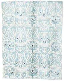 Sari Pură Mătase Covor 153X200 Modern Lucrat Manual Bej-Crem/Albastru Deschis (Mătase, India)