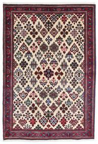 Meimeh Covor 110X160 Orientale Lucrat Manual Bej/Negru (Lână, Persia/Iran)