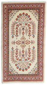 Sarouk Covor 80X152 Orientale Lucrat Manual Bej Închis/Roșu-Închis (Lână, Persia/Iran)
