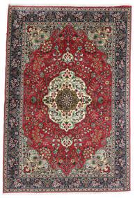 Tabriz Covor 100X150 Orientale Lucrat Manual Negru/Gri Închis (Lână, Persia/Iran)