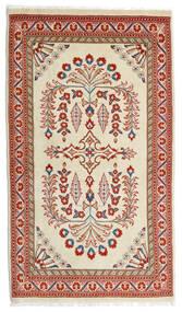 Sarouk Covor 80X140 Orientale Lucrat Manual Lumina Verde/Roșu-Închis (Lână, Persia/Iran)