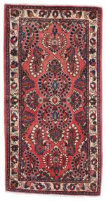 Sarouk Covor 70X130 Orientale Lucrat Manual Roșu-Închis/Negru (Lână, Persia/Iran)