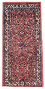 Sarouk Covor 65X136 Orientale Lucrat Manual Mov Închis/Roșu-Închis (Lână, Persia/Iran)