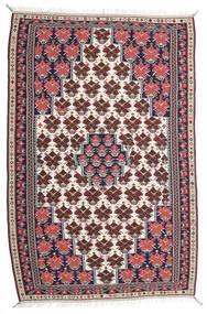 Chilim Senneh Covor 150X220 Orientale Lucrate De Mână Mov Închis/Gri Deschis (Lână, Persia/Iran)