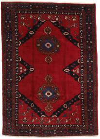 Mashhad Covor 207X290 Orientale Lucrat Manual Negru/Roșu-Închis (Lână, Persia/Iran)