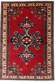 Sarouk Covor 94X137 Orientale Lucrat Manual Negru/Roşu (Lână, Persia/Iran)