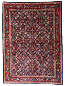Sarouk Covor 110X155 Orientale Lucrat Manual Albastru Închis/Roșu-Închis (Lână, Persia/Iran)