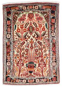 Hamadan Covor 67X100 Orientale Lucrat Manual Bej/Roșu-Închis (Lână, Persia/Iran)
