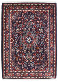 Hamadan Shahrbaf Covor 72X100 Orientale Lucrat Manual Mov Închis/Roșu-Închis (Lână, Persia/Iran)