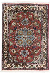 Tabriz 50 Raj Covor 62X90 Orientale Lucrat Manual Roșu-Închis/Maro Închis (Lână/Mătase, Persia/Iran)