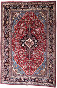 Mashhad Covor 200X300 Orientale Lucrat Manual Negru/Roşu (Lână, Persia/Iran)