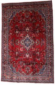 Hamadan Shahrbaf Covor 208X310 Orientale Lucrat Manual Roșu-Închis/Roşu (Lână, Persia/Iran)