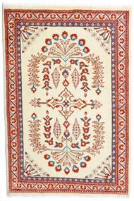 Sarouk Covor 85X126 Orientale Lucrat Manual Bej/Roșu-Închis (Lână, Persia/Iran)