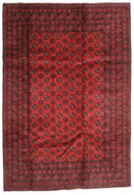 Afghan Covor 202X289 Orientale Lucrat Manual Roșu-Închis/Ruginiu (Lână, Afganistan)