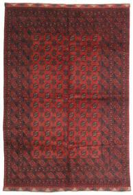 Afghan Covor 197X284 Orientale Lucrat Manual Roșu-Închis/Maro Închis (Lână, Afganistan)