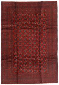 Afghan Covor 199X289 Orientale Lucrat Manual Roșu-Închis/Maro Închis (Lână, Afganistan)