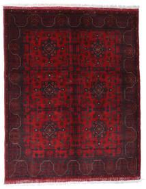 Afghan Khal Mohammadi Covor 150X188 Orientale Lucrat Manual Roșu-Închis (Lână, Afganistan)