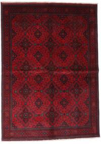 Afghan Khal Mohammadi Covor 168X232 Orientale Lucrat Manual Roșu-Închis/Roşu (Lână, Afganistan)