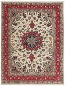 Tabriz 50 Raj Covor 151X203 Orientale Lucrat Manual Gri Deschis/Roșu-Închis (Lână/Mătase, Persia/Iran)