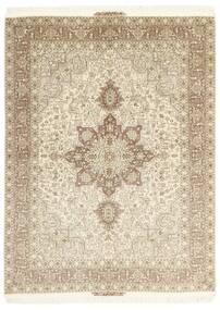 Tabriz 50 Raj Covor 148X200 Orientale Lucrat Manual Bej/Gri Deschis (Lână/Mătase, Persia/Iran)