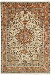 Tabriz 50 Raj Covor 253X358 Orientale Lucrat Manual Maro/Maro Deschis/Bej Închis Mare (Lână/Mătase, Persia/Iran)