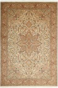 Tabriz 50 Raj Covor 200X302 Orientale Lucrat Manual Maro Deschis/Bej/Maro (Lână/Mătase, Persia/Iran)