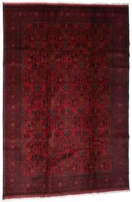 Afghan Khal Mohammadi Covor 198X295 Orientale Lucrat Manual Roșu-Închis/Maro Închis (Lână, Afganistan)