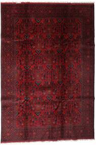 Afghan Khal Mohammadi Covor 197X286 Orientale Lucrat Manual Roșu-Închis/Maro Închis (Lână, Afganistan)