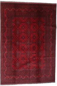 Afghan Khal Mohammadi Covor 204X290 Orientale Lucrat Manual Roșu-Închis (Lână, Afganistan)