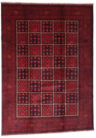 Afghan Khal Mohammadi Covor 203X284 Orientale Lucrat Manual Roșu-Închis (Lână, Afganistan)