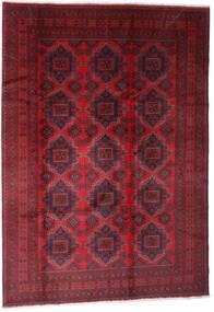 Afghan Khal Mohammadi Covor 203X289 Orientale Lucrat Manual Roșu-Închis/Roşu (Lână, Afganistan)