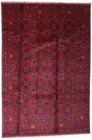 Afghan Khal Mohammadi Covor 198X296 Orientale Lucrat Manual Roșu-Închis/Roşu (Lână, Afganistan)