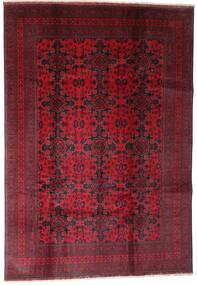 Afghan Khal Mohammadi Covor 202X290 Orientale Lucrat Manual Roșu-Închis (Lână, Afganistan)